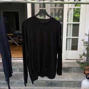 Theory Asymmetrical Black Sweater